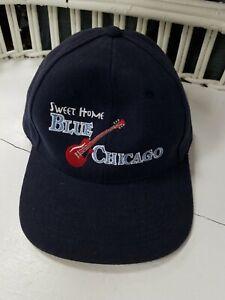 Sweet Home BLUE CHICAGO Ball Cap Cotton Alternative Apparel Hat nice ... 45fb980ea8e