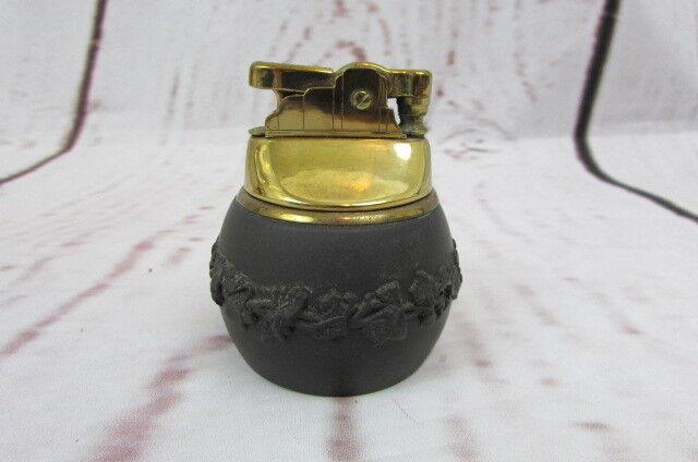 Vintage Black Wedgwood Jasperware Lighter.