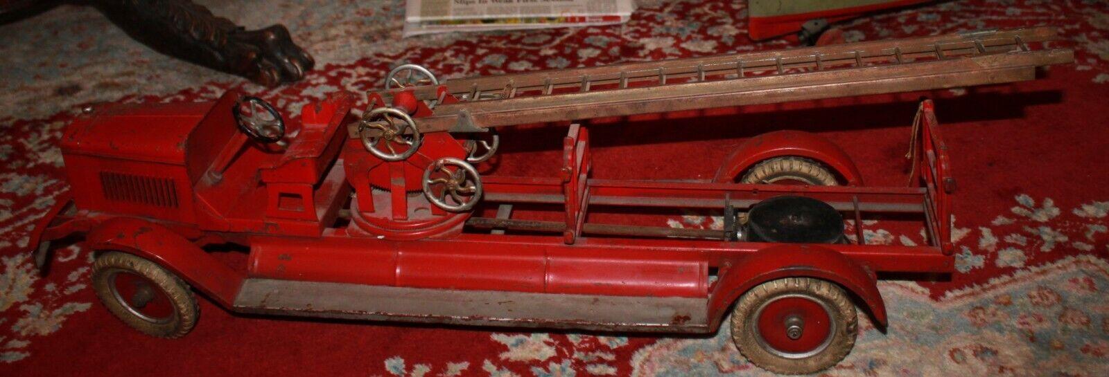 1930S de Kingsbury escalera de incendios escalera camión Todo Original falta lado escaleras