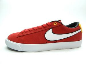 huge selection of 4f3c7 1d4bf Image is loading NIKE-BLAZER-LOW-GT-UNIVERSITY-RED-WHITE-BLACK-