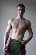Shirtless Male College Frat Jock Muscular Beefcake Dude in  Towel PHOTO 4X6 C640