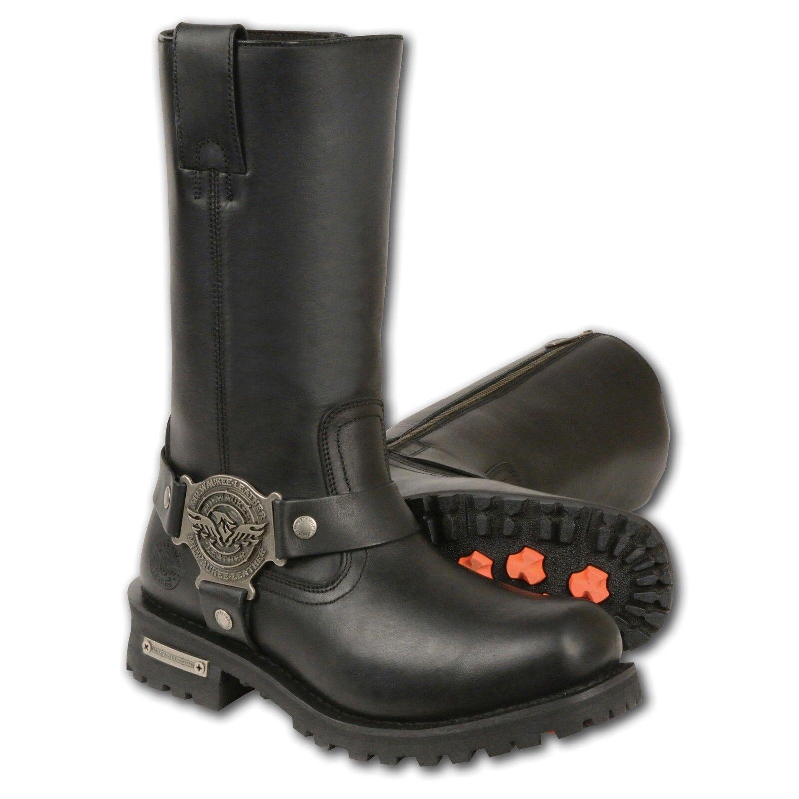 """economico in alta qualità Milwaukee Leather Ladies 11"""" Inch Classic Harness Square Square Square Toe avvioMBL9360  disponibile"""