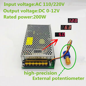 AC110/220 TO DC 0-12V Adjustable Switching Power Supply with Digital ...