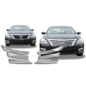 NEW-Chrome-Grille-Overlay-Compatible-with-2013-2015-Nissan-Altima-4-Dr-Sedan