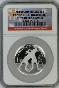 2010-P-Australian-Kangaroo-1-NGC-PF70-Ultra-Cameo-High-Relief-Flag-Label