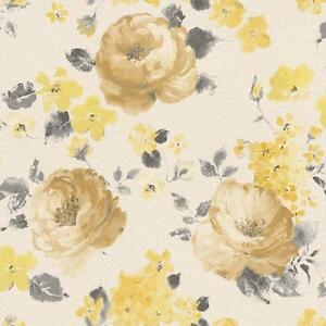 Image Is Loading RASCH FLORENTINE FLOWER PATTERN FLORAL WATER COLOUR TEXTURE