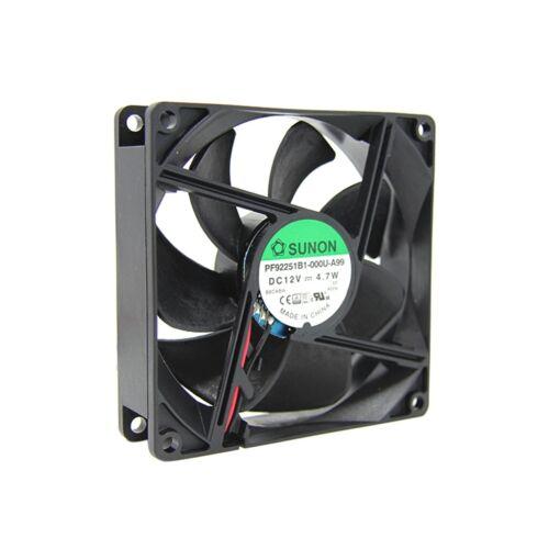 dc axial 12VDC 92x92x25mm 127.42m3//h 47dBA Roulement à billes PF92251B1-000U-A99 Ventilateur