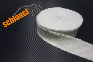 10 Kabelbinder***Heat Wrap 5m Keramik Hitzeschutzband 50mm schwarz 1200°C