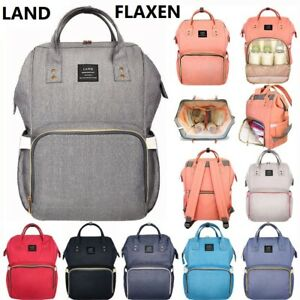 Details About Flaxen Land Fashion Ny Mummy Backpack Diaper Bag Baby Newborn Shoulder
