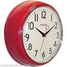 Westclox Retro Kitchen Wall Clock Kitchen Vintage Wall Clock Red Kitchen Supply