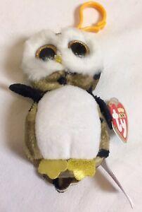 4c3705f7378 New TY Beanie BOOS OWLIVER Owl Camouflage Ornament Key Clip Green ...