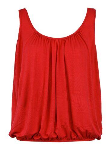 Bnwt Femme Débardeur Coupe Ample Taille Élastique Sans Manches T Shirt