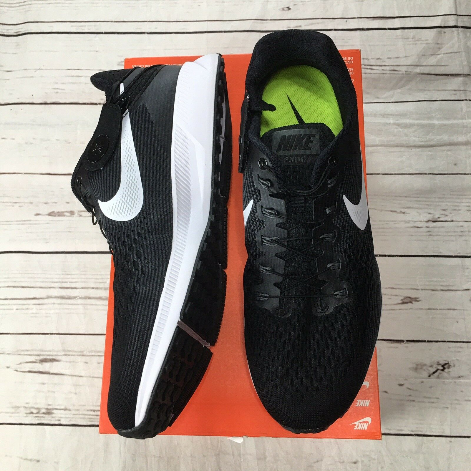 37caab5d56b52 Buy Nike Air Zoom Pegasus 34 Flyease Black white Men s Running Shoes Size  11.5 online