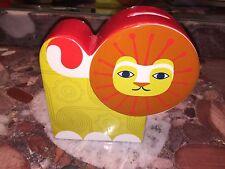 New Jonathan Adler Junior Porcelain Piggy Bank Coin Money Jar Lion HAPPY CHIC
