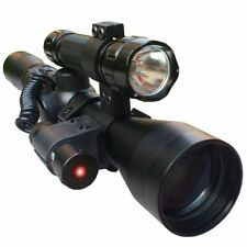 CVLIFE 3-9X40 Crosshair Tactical Sniper Hunting Rifle Scope With Red Laser Torch