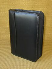 Compact Franklin Covey Black Faux Leather 125 Rings Zip Plannerbinder
