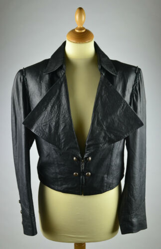 Cropped Bolero Medium Jacket Danish Black Short Chdk £196 Leather Womens Rrp FB4qOg