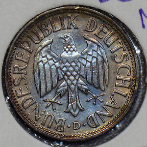 Germany 1950 Mark silver stunning blue toning 190465 combine shipping