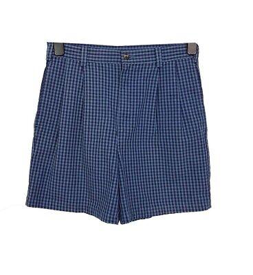 Pantaloncini Vintage W30 Blue Gingham Pantaloni Chino Casual Piscina Spiaggia Vacanze Estate-mostra Il Titolo Originale Servizio Durevole