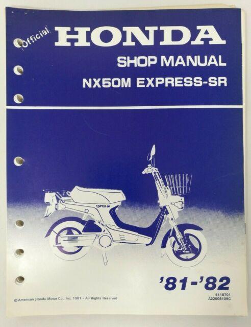 1981 1982 Honda Nx50m Express