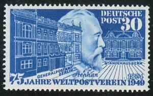 Germany 1949 MNH Mi 116 Sc 669 Heinrich von Stephan.75th anniv. of the UPU **