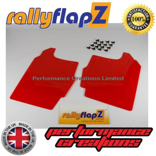 RallyflapZ Bavette Rouge 4 mm Bavettes pour s/'adapter FORD FOCUS MK1 3//5 Dr 98-04