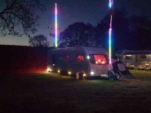 Battery Clips Caravan Motorhome Boat 3M Cig Lead 5M FLAG POLE CHASING LIGHTS
