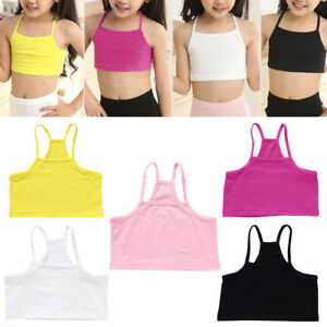 Image Is Loading Girls Cotton Vest Teenage Bra Kids Candy Color
