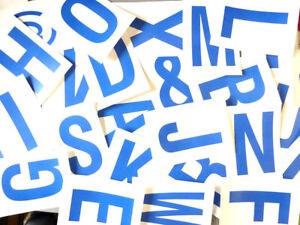 115mm 103cm BLEU SUR BLANC collant lettres-lettrage stickers-PLASTIQUE cgMkMvFU-07135318-701997642