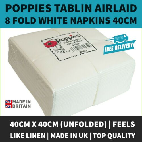 Top Quality Luxury White Tablin Airlaid Napkins Quality Linen Feel 40cm Dinner