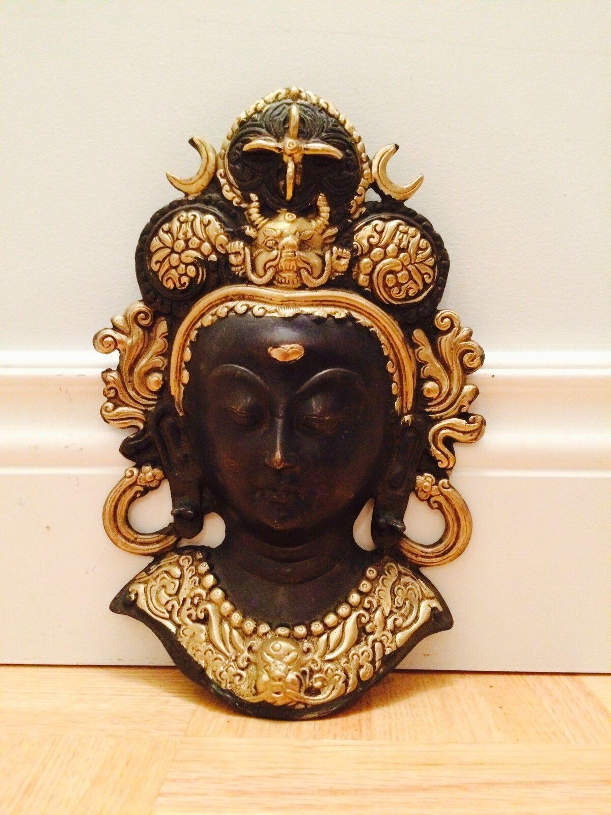 10  Budda Head Wall Hanging Statue