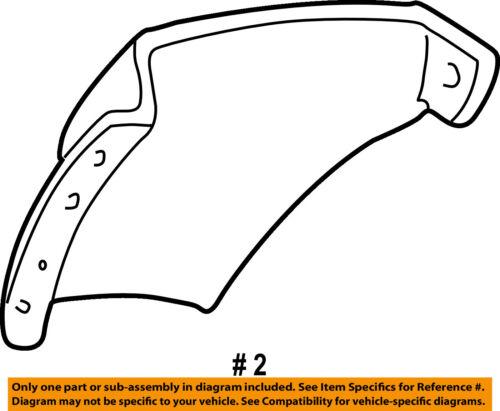 FORD OEM 00-05 Excursion Rear Fender-Liner Splash Shield Right YC3Z7828370AA