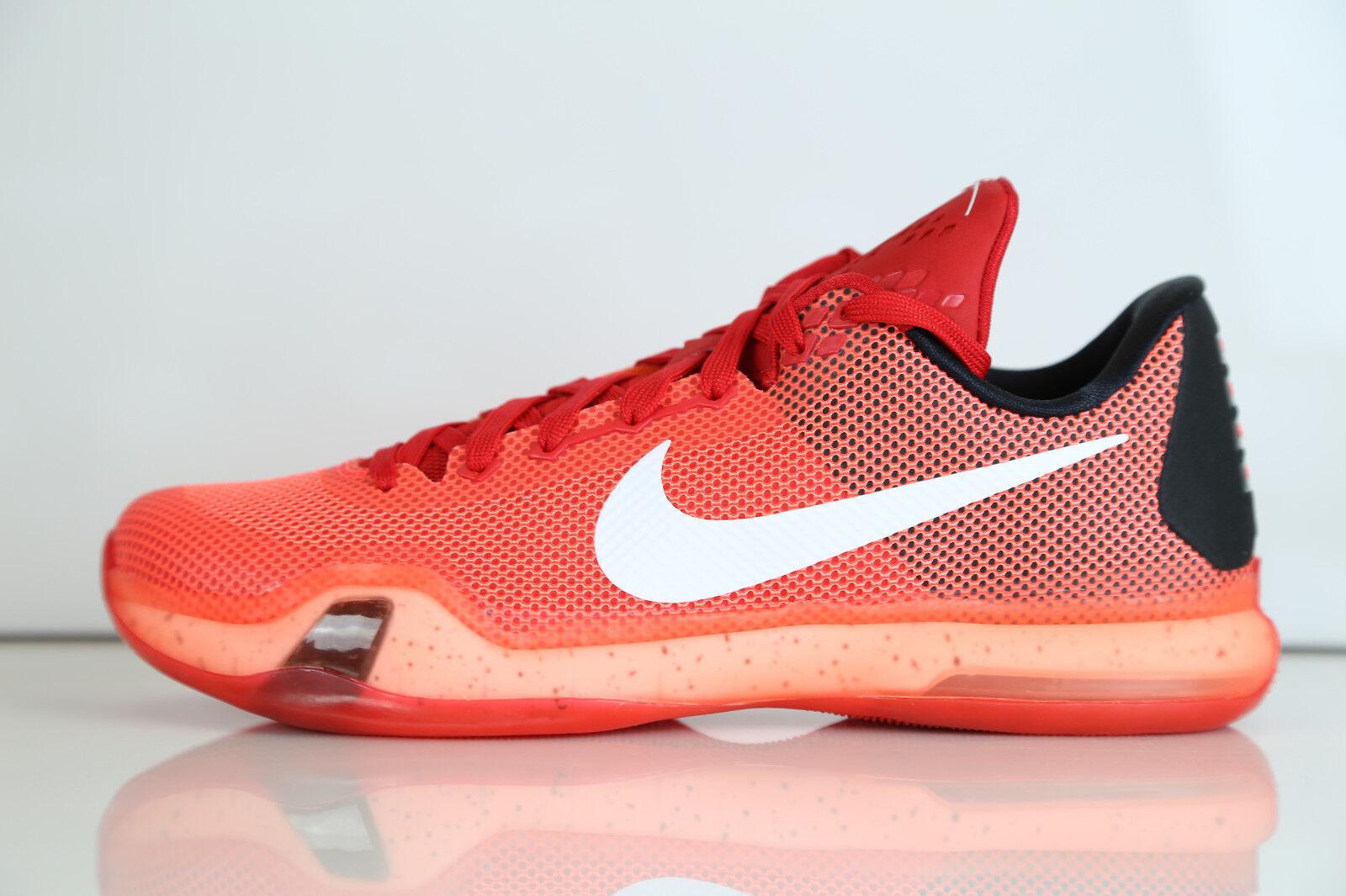 Nike Kobe X Majors University Red Bright Crimson 705317-616 8-14 10 9 8