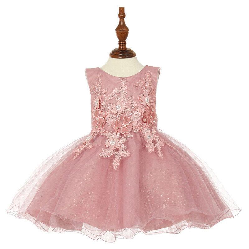 ROSE Flower Toodler Girl Dress Bridesmaid Dance Recital Birthday Wedding Prom