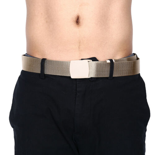 115cm Length Outdoor Military Tactical Belt Plastic Buckle Nylon Waist Bel TDCA