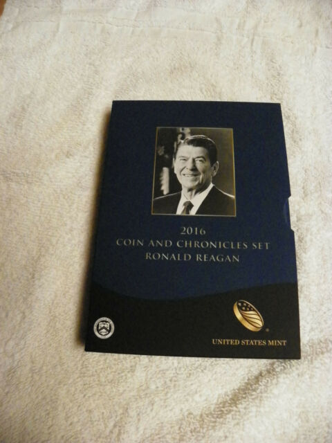 2016 Ronald Reagan Coin & Chronicles Set Reverse Proof Dollar Coin & Silver Coin