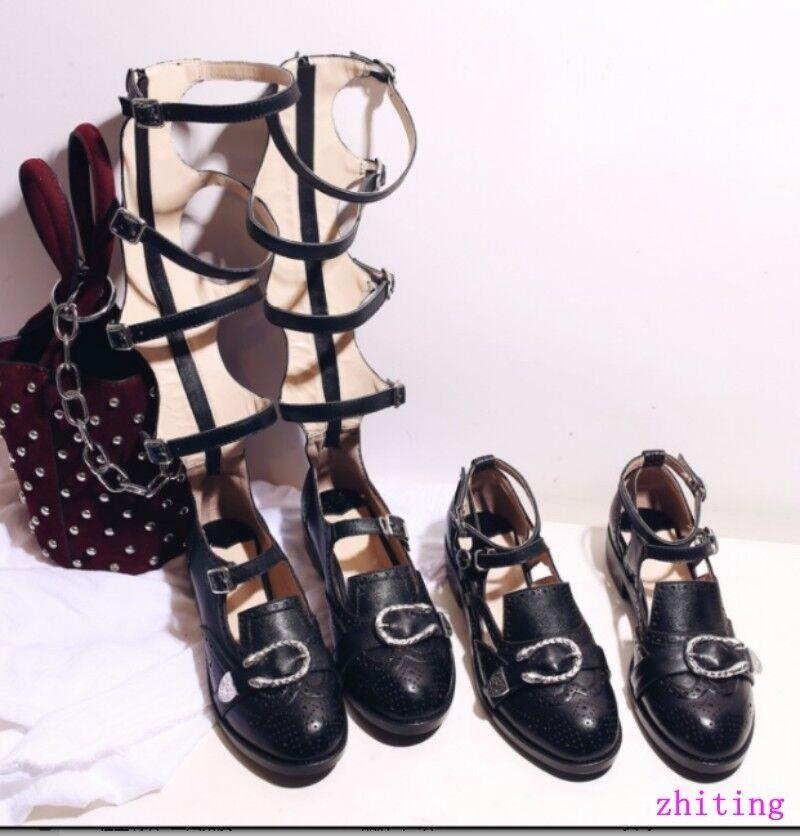 Mujer Punk Estilo Hebilla Correa Taco Plano Oxford Oxford Oxford Zapatos High Top Gladiador Romano  elige tu favorito