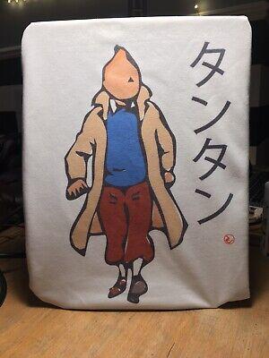 Tintin タンタン Japanese Artwork Tee Inspired By Herge and Japanese Minimalism
