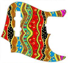 J Jazz Bass Pickguard Custom Fender Graphic Graphical Guitar Pick Guard Pop Art