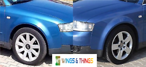 Brand new Audi A4 B6 2001-05 Driver Passenger wings painted in Denim Blue LZ5W
