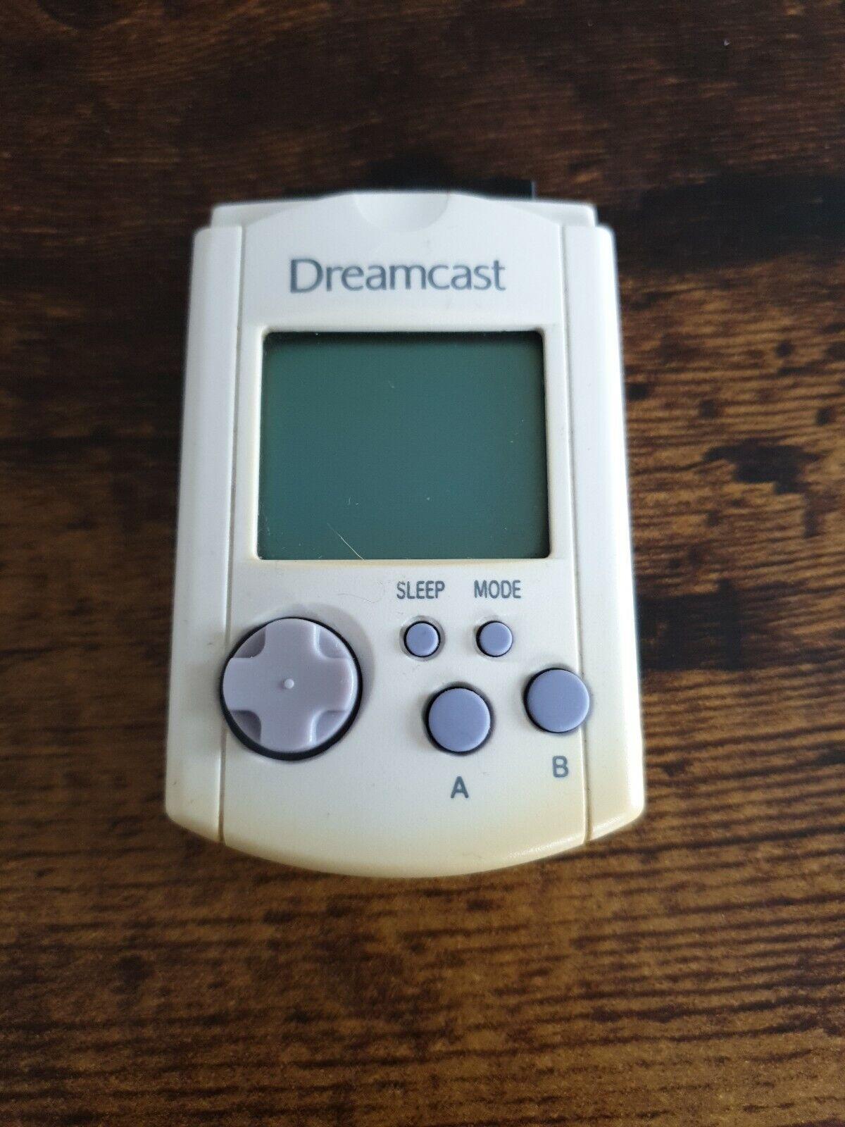 HKT-7000 Official Sega Dreamcast Visual Memory Unit VMU No Battery - Tested &...