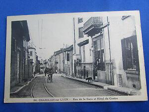 CPA-42-Chazelles-ueber-Lyon-La-Strasse-Am-Bahnhof