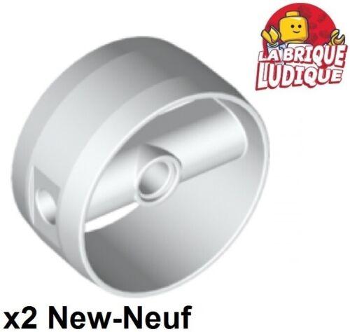 Lego 2x cylinder cylindre turbine 4x4x1 2//3 blanc//white 41531 NEUF