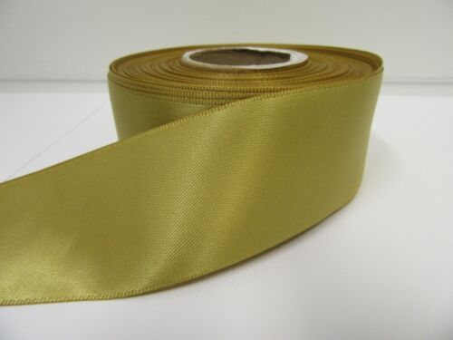 50mm Satin Ribbon 2 metres or 25 metre Roll double side wedding craft UK VAT Reg