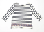 George-Womens-Size-12-Striped-Cotton-White-T-Shirt-Regular thumbnail 1