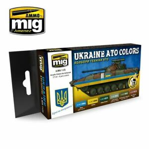 Adroit Ammo De Mig Ukraine Ato Couleurs Peinture Acrylique Set-afficher Le Titre D'origine Bonne Conservation De La Chaleur