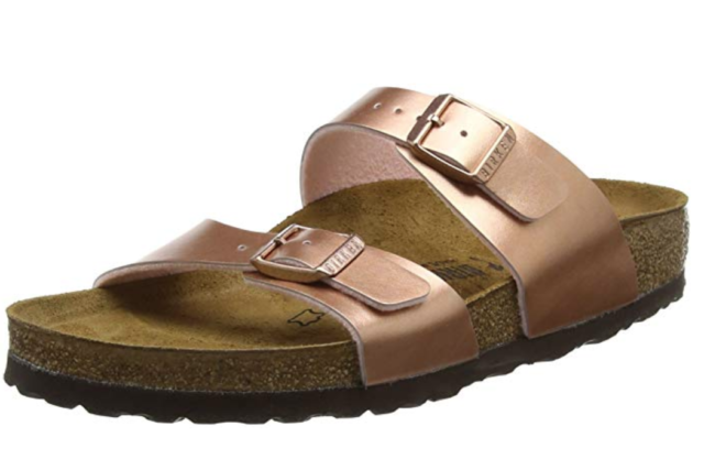 BIRKENSTOCK SYDNEY Soft Metallic Rose Gold NARROW 5 6 7 8 9 EU 36 37 38 39 40