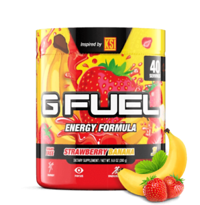 G Fuel Strawberry Banana Tub 40 Servings Elite Energy and Endurance Formula