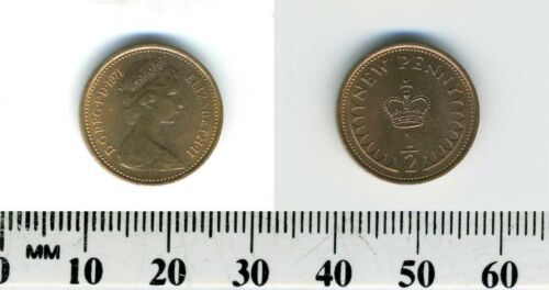 Queen Elizabeth II GREAT BRITAIN 1971-1//2 New Penny Bronze Coin