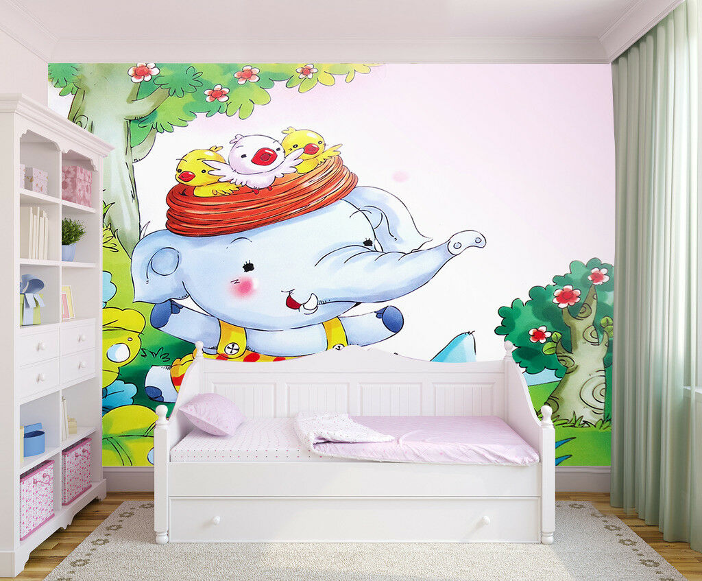 3D Anime Elephant 6 Wallpaper Murals Wall Print Wallpaper Mural AJ WALL AU Lemon